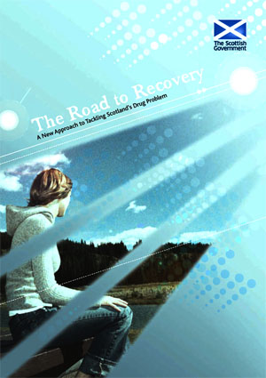 Inspirational vision of recovery depicted on 2008 Scottish drug strategy cover: click to download document