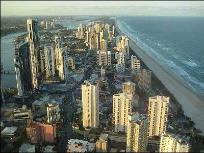 Surfers' Paradise in the Gold Coast region of Queensland in Australia